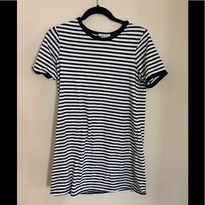 Zara Black and white striped shirt dress
